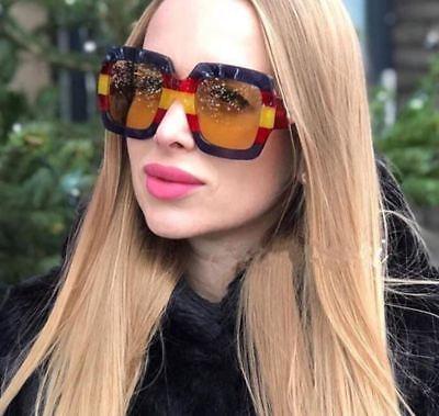 Sunglasses Women Color Square Frame Sun Glasses Pop Age Oversized Sunshades 2018