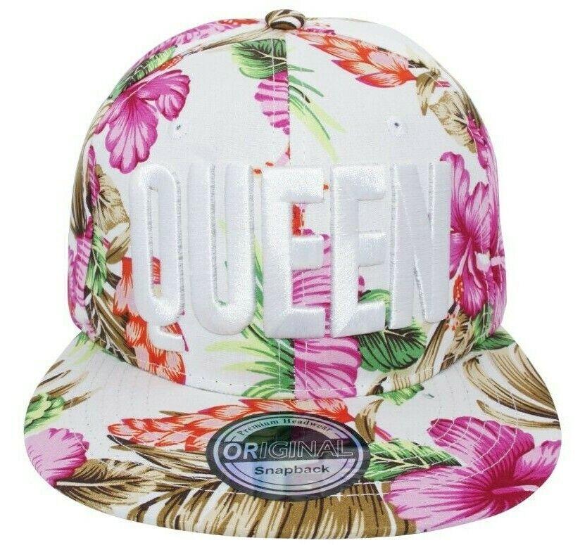 Cappy Kappe Cap Basecap Damen Damenkappe Freizeit Hut Königin QUEEN Hawaii pink