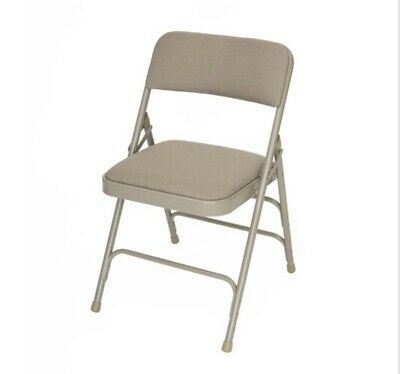 4 Pack - Slighty Damaged - Fabric Padded Folding Chair For Home Or Office