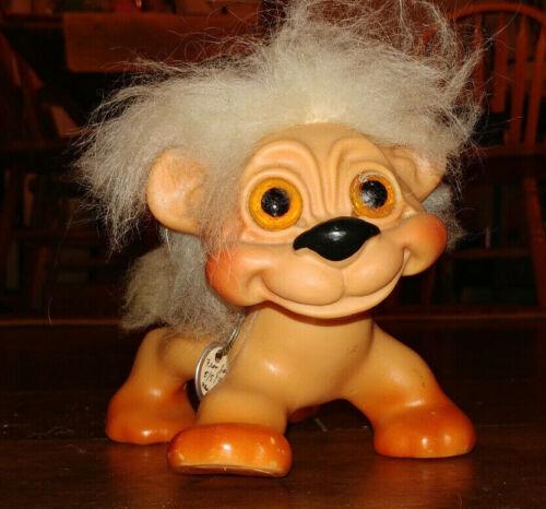 """VHTF Vintage Thomas Dam Things Troll Lion Doll Pet 5 1/2"""" tall jointed head"""