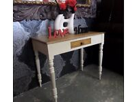 Stunning Victorian Rustic Pine Shabby Chic Console Side Table UK Delivery