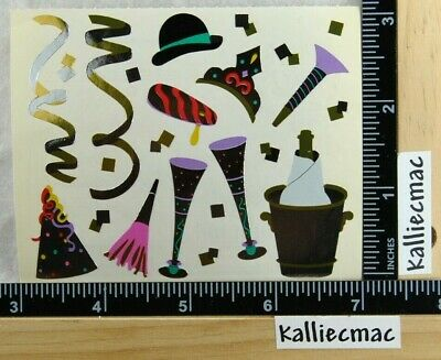 New Year Parties (Mrs Grossman NEW YEARS PARTY Stickers HAPPY NEW YEAR NEW YEAR EVE 1/2 SHEET)
