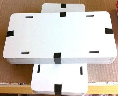 10pcs.024 6x12gloss Whitewhite Aluminum License Platecar Tag Blanks Masked.