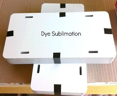 225pcs. 6x 12 Sublimation Matte White Aluminum License Platecar Tag Blanks