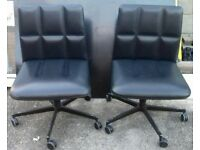 Lederchairs by Walter Knoll x 2