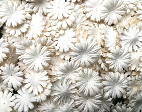 50+Petals+Daisy+Flowers+White+Color+Mulberry+Paper+Craft+Wedding+Card+Scrapbook