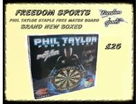 PHIL TAYLOR POWER BOARD BRAND NEW BOXED STAPLE FREE BOARD FOR THE PROFESSIONALS REDUCED TO CLEAR £20