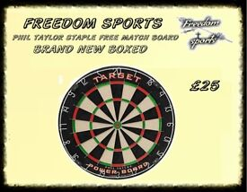 PHIL TAYLOR POWER BOARD BRAND NEW BOXED STAPLE FREE BOARD FOR THE PROFESSIONALS