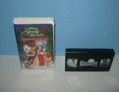 Beauty Beast Enchanted Christmas VHS Walt Disney Clamshell Case Video Tape Movie