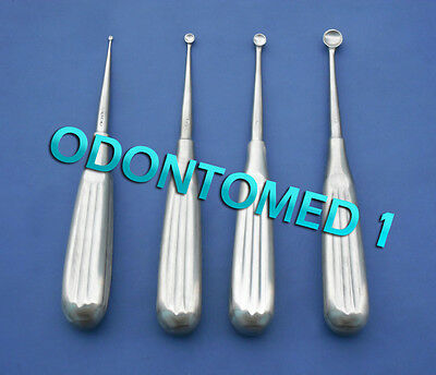 4 Spratt Brun Bone Curette Size 00000014 Surgical Instrument