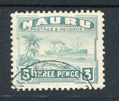 Nauru KGVI 1937-48 3d greenish-grey SG31B ex-album used