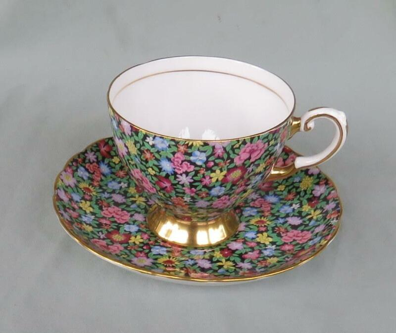 PRETTY TUSCAN MILLE FLEURS CHINTZ CUP & SAUCER