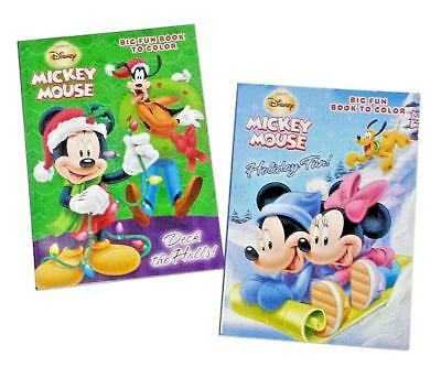 Mickey Mouse & Friends Christmas Coloring Book Holiday Activity Books Set of 2 ()
