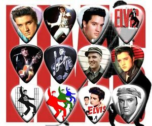 ELVIS 12 Premium Full Color Guitar Picks