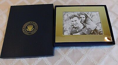 Bill Clinton Presidential Seal White House gift silver picture frame authentic
