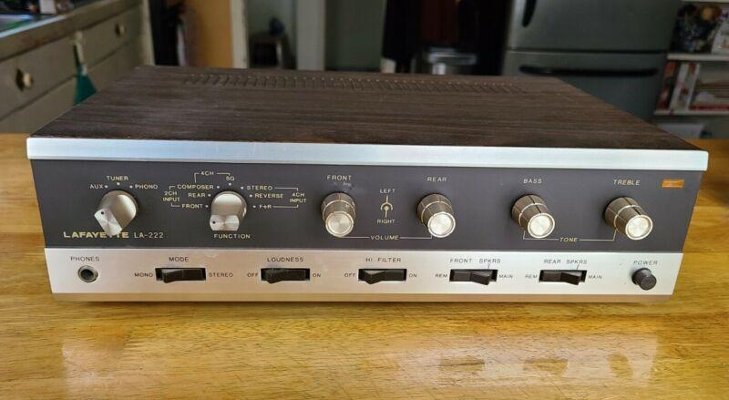 Vintage Lafayette Solid State LA-222 Pre Amplifier