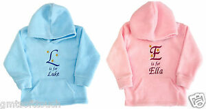 Personalised-Hoodies-Hoody-Childrens-Clothes-Gifts-Boys-Girls-Baby-Clothing