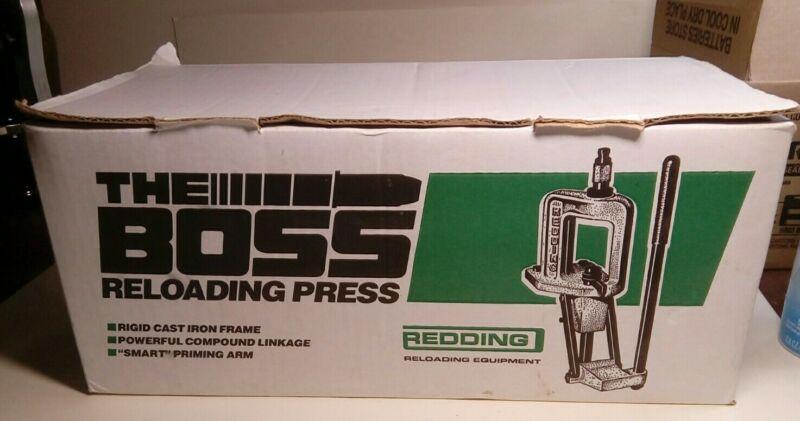 REDDING BOSS SINGLE STAGE RELOADING PRESS HEAVY DUTY CAST IRON 7/8 DIE NIB 72100
