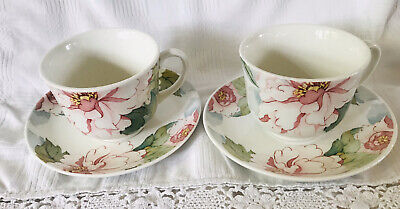 Johnson Brothers Katherine Pair of Cups and Saucers