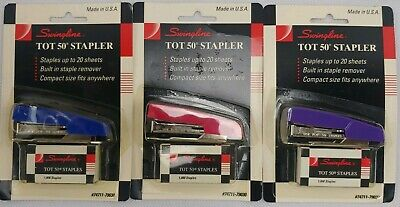 Vintage Swingline Tot 50 Mini Stapler With Staples 74711-79030