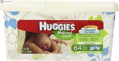 Huggies Wipe Naural Care Tub 64ct