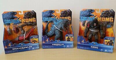 Godzilla vs Kong Godzilla Kong & Skullcrawler Action Figure Lot of 3 Playmates