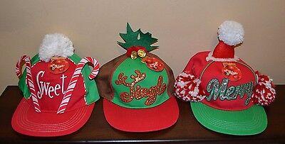 Ugly Christmas Hats Baseball Style Snapback Hats Adjustable One Size Adults  - Baseball Christmas