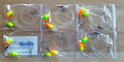 6 Surf / Pier Fishing Rigs: Pompano, Whitings, Croakers, Snappers, Etc.