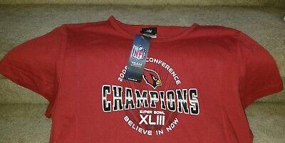 Nfl Com 2008 Nfc Conference Champions Arizona Cardinal Womans Xl Superbowl Xliii