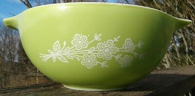 RARE HTF PYREX LIME BUTTERFLY GOLD BOUQUET CINDERELLA BOWL 443 SAMPLE PROTOTYPE