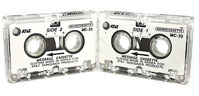 100x  MC-30 Microcassette Tape Incoming Message Cassette Answering Machine