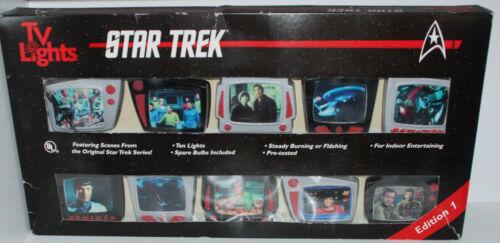 Star Trek TV Lights  Tea Lights 1997 New in Box  Edition 1