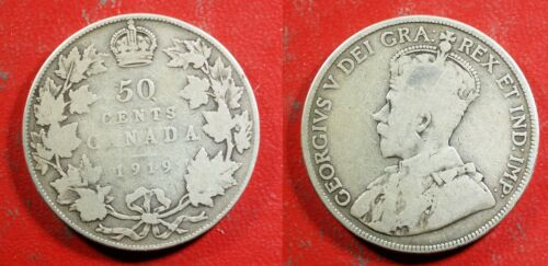 1919 Canada 50 Cent Silver - Solid GOOD   stk#H691