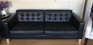 Couch, Black Leather