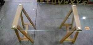 New Tempered Glass Trestle Scandi Natural Timber Student Desks Melbourne CBD Melbourne City Preview