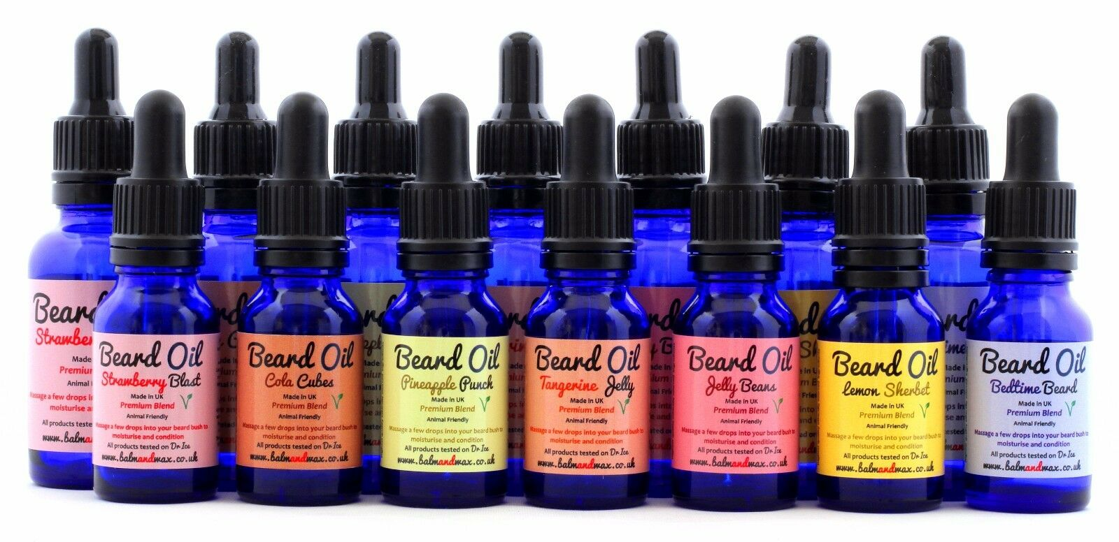 Premium Beard Oil Treatment - Vegan - Sweet Shop Scents - Dr