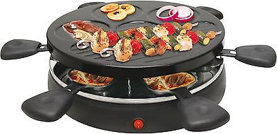 Raclette Grill für 6 Personen 1.200 Watt Party Grill Tischgrill Elektrogrill NEU