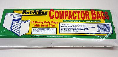 """Port-A-Bag 18"""" TRASH COMPACTOR BAGS 15-pk - K12"""
