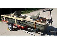 2020 Pelican Intruder 12 foot Jon Boat with  Trailer,  Motor plus extras