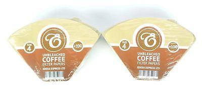 200 Filtri caffè americano in carta non sbiancata - forma a cono - misura 4