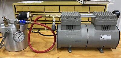 Thomas 2807ce72 Piston Air Compressor W Air Tank 1hp