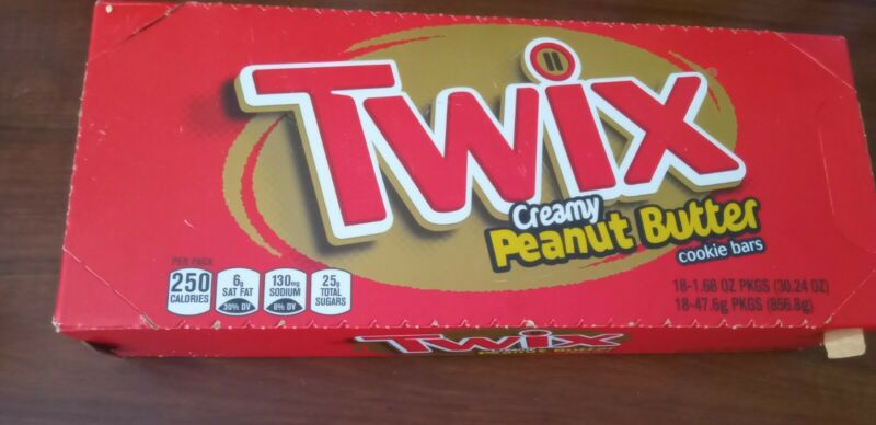 TWIX Peanut Butter Chocolate Cookie Bar Candy, 1.68-Ounce 18-Count Box -dry ice