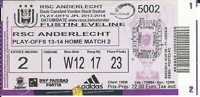 Ticket: Anderlecht - Zulte Waregem Jupiler Pro League Play Off (15-4-14)