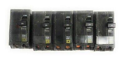 New Square D Q0120PDFC Miniature Circuit Breaker 20A 1P 120//240V 10kA GFCI