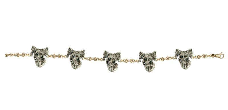 Chinese Crested Bracelet Jewelry Silver And Gold Handmade Dog Bracelet CC1-TTBR