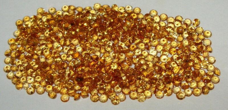 3mm Beautiful Color Brazil Gold Citrine Brilliant Round Cut - 2 STONES