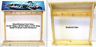 Shark Tooth Display Wood Counter For Necklace Bracelet Anklet Sharks Teeth Packs