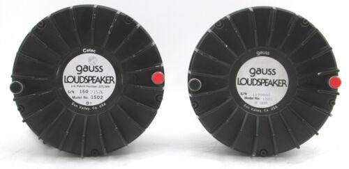 Pair of Cetec Gauss 1502 Bullet Tweeter Drivers Loudspeaker 8 OHM