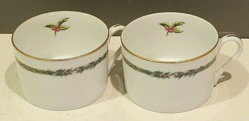 """Department 56 """"Christmas Classic"""" PAIR Flat Cups NWT"""