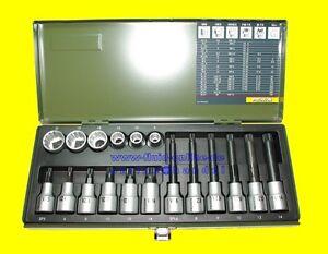 PROXXON 23296 Satz Vielzahn Nüsse Bits XZN 5-21 Antrieb 12,5mm (1/2
